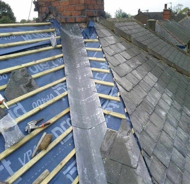 Lead Valley and Chimney flashing